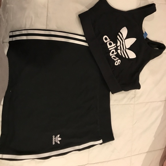0097774d5e9 adidas Dresses & Skirts - Adidas crop top and skirt set